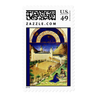 July - The Tres Riches Heures du Duc de Berry Stamps