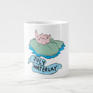 July Waterlily Large Coffee Mug