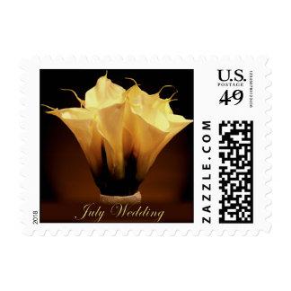 July wedding calla lilies postage