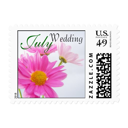 July Wedding Daisy Postage Stamp