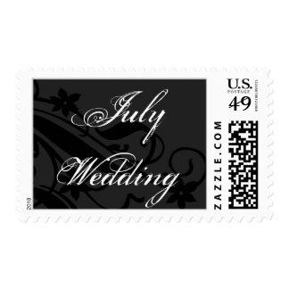 July Wedding Postage Stamp