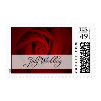 July Wedding : rose of the season : Postage