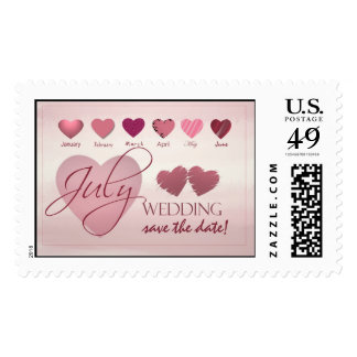 July Wedding Save the Date! Wedding Postage