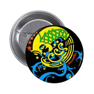 Julzips - Estampado Chaqueta Pinback Buttons