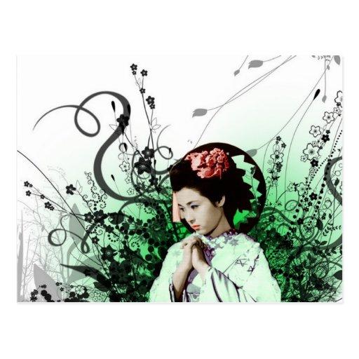Julzips - Geisha Postcard