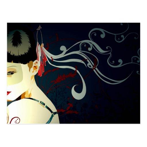 Julzips - Mascarada Postcard