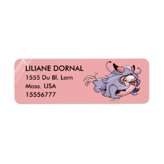 JUMAN CARTOON RETURN ADRESS LABELS