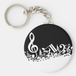 Jumble of Musical Symbols Keychain