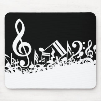 Jumble of Musical Symbols Mouse Pad
