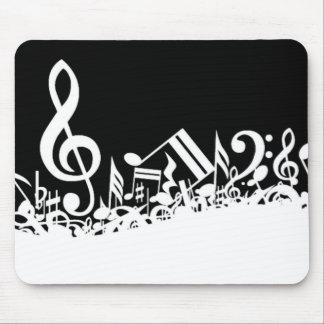 Jumble of Musical Symbols Mouse Pad