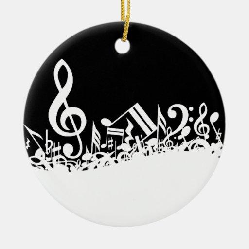 Jumble of Musical Symbols Christmas Ornament