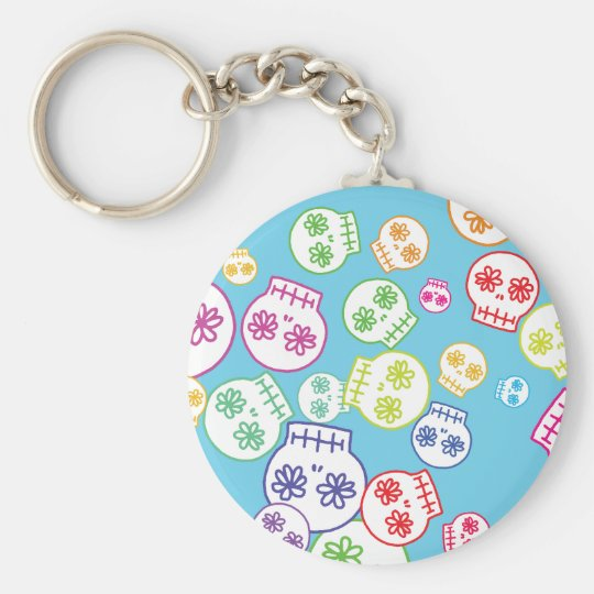 Jumble of Sugar Skulls Keychain