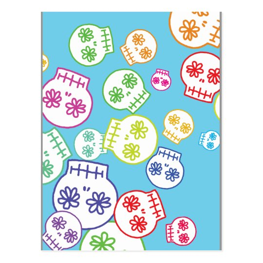 Jumble of Sugar Skulls Postcard