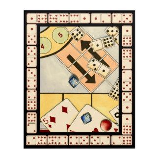Jumbled Assortment of Games of Chance Acrylic Print