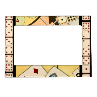 Jumbled Assortment of Games of Chance Photo Frame Magnet