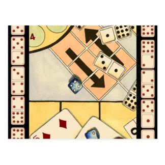 Jumbled Assortment of Games of Chance Postcard