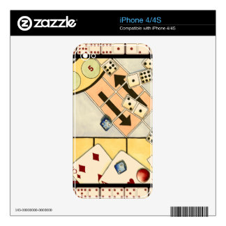 Jumbled Assortment of Games of Chance Skins For The iPhone 4