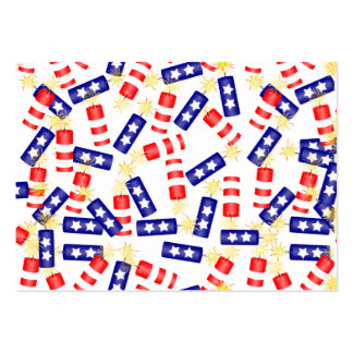 Jumbled Firecrackers for the 4th of July Large Business Cards (Pack Of 100)