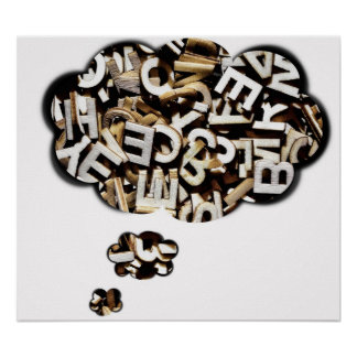 Jumbled letters bubble poster
