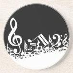 Jumbled Musical Notes Coaster