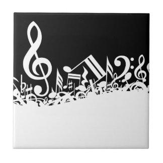 Jumbled Musical Notes Ceramic Tiles