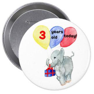 'Jumbo' 3rd Birthday Button