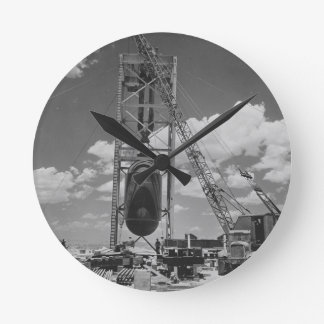 Jumbo Atomic Bomb Positioned for Trinity Test Round Clock