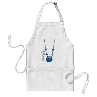Jumbo Bead Necklace   Blue-002 Adult Apron