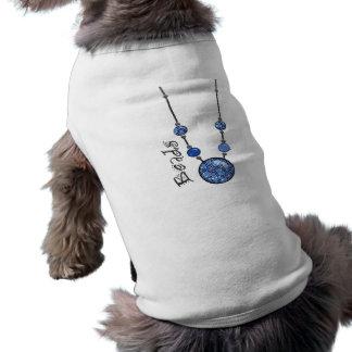 Jumbo Bead Necklace Blue-004 Dog T-shirt
