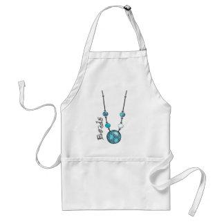 Jumbo Bead Necklace   Blue-006 Adult Apron