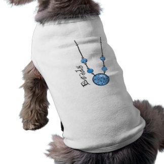 Jumbo Bead Necklace Blue-008 Pet Shirt