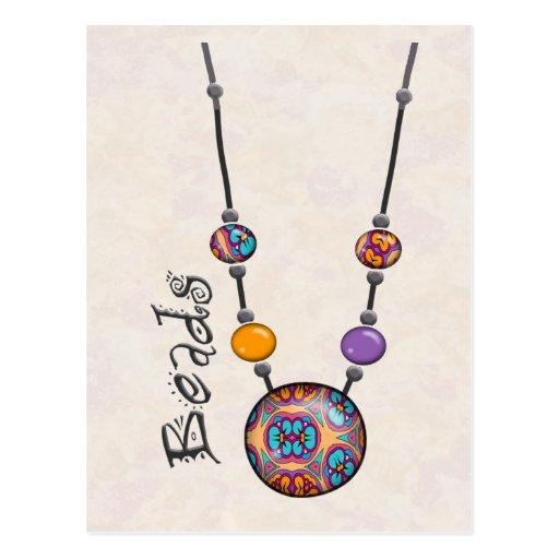Jumbo Bead Necklace Multicolor   10 Postcards
