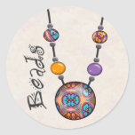 Jumbo Bead Necklace Multicolor   10 Stickers