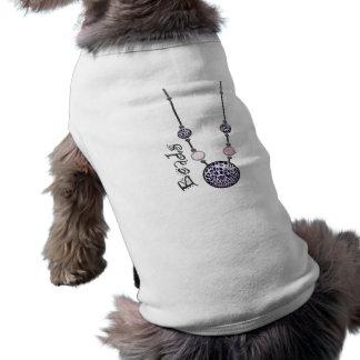 Jumbo Bead Necklace Multicolor 12 Dog Tshirt