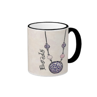 Jumbo Bead Necklace Multicolor   12 Ringer Coffee Mug