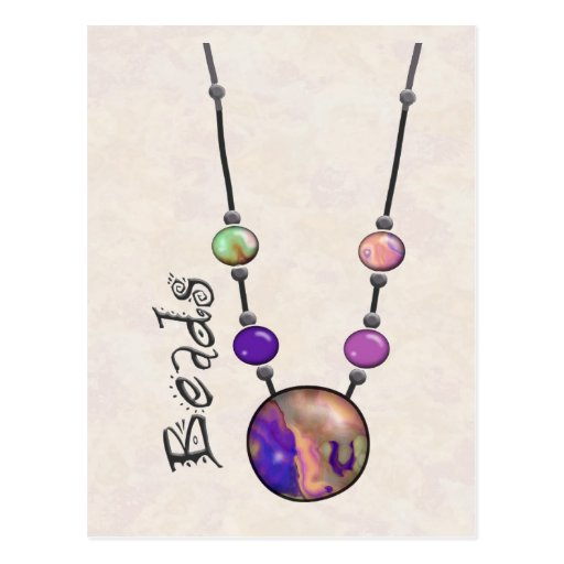 Jumbo Bead Necklace Multicolor   13 Post Card