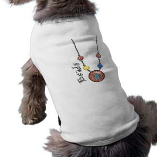 Jumbo Bead Necklace Multicolor 6 Doggie Tee Shirt
