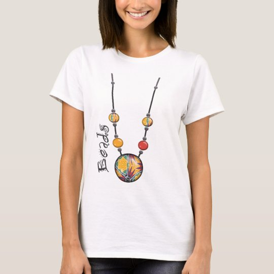 Jumbo Bead Necklace Multicolor    7 T-Shirt