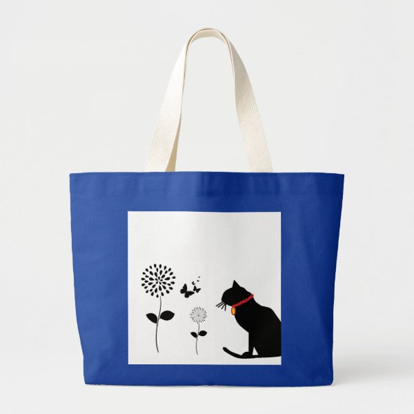 Jumbo  Black Cat Graphic Tote