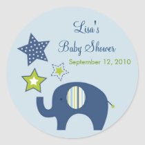Jumbo Blue Elephant Star Envelope Seals Stickers