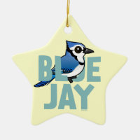 Jumbo Blue Jay Star Ornament