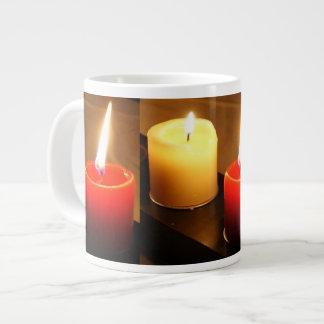 Jumbo Candle Mug 1 red / yellow