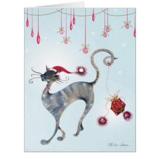 Jumbo Catitude Festive Felines Christmas Card