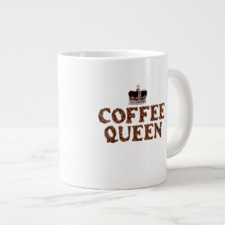 "JUMBO COFEE MUG - ""Coffee Queen"" with crown 20 Oz."