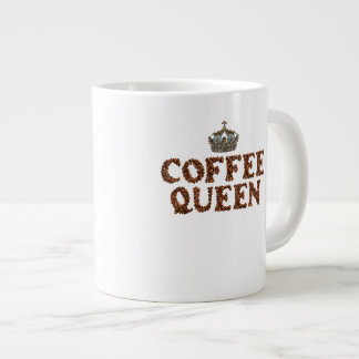 "JUMBO COFFEE MUG - ""Coffee Queen"" with crown 20 Oz"