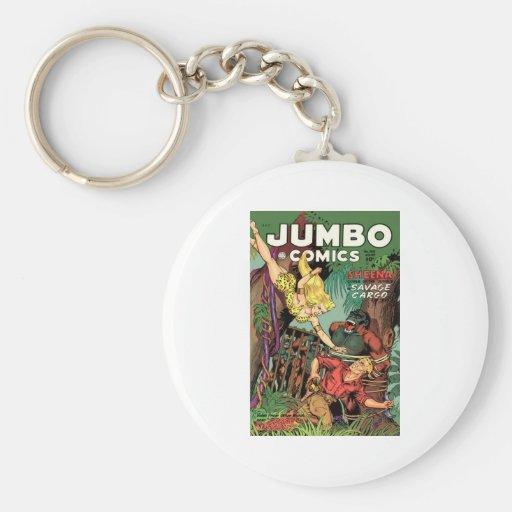 Jumbo Comics No 160 Basic Round Button Keychain