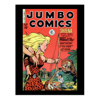 Jumbo Comics Postcard