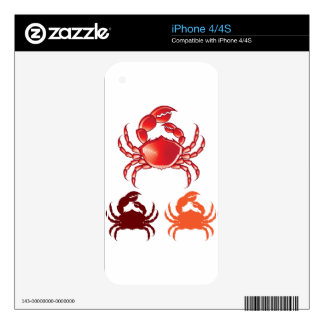 Jumbo Crab vector Decals For iPhone 4