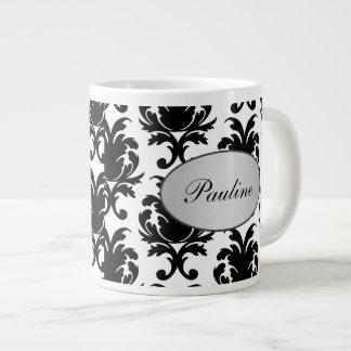 Jumbo Damask Coffee Mugs