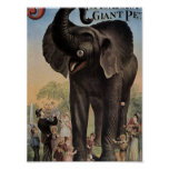 Jumbo el teatro retro del elefante gigante impresiones